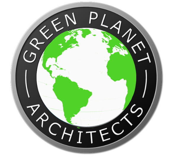 Green Planet Architect logo green white